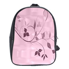 Floral Purple School Bag (XL)