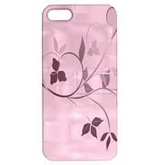Floral Purple Apple Iphone 5 Hardshell Case With Stand