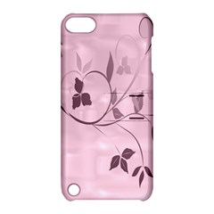 Floral Purple Apple iPod Touch 5 Hardshell Case with Stand