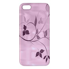 Floral Purple iPhone 5 Premium Hardshell Case