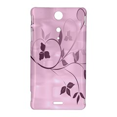 Floral Purple Sony Xperia TX Hardshell Case