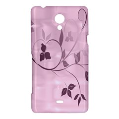 Floral Purple Sony Xperia T Hardshell Case