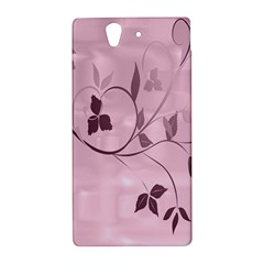 Floral Purple Sony Xperia Z L36H Hardshell Case