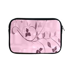 Floral Purple Apple iPad Mini Zippered Sleeve
