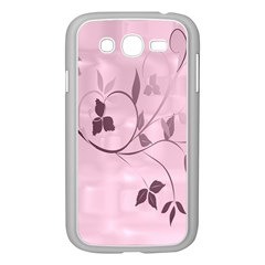 Floral Purple Samsung Galaxy Grand DUOS I9082 Case (White)