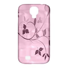 Floral Purple Samsung Galaxy S4 Classic Hardshell Case (pc+silicone)