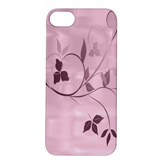Floral Purple Apple Iphone 5s Hardshell Case