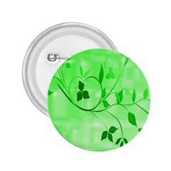 Floral Green 2.25  Button