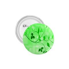 Floral Green 1 75  Button