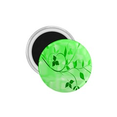 Floral Green 1.75  Button Magnet