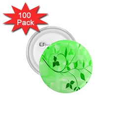 Floral Green 1.75  Button (100 pack)