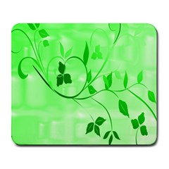 Floral Green Large Mouse Pad (rectangle)