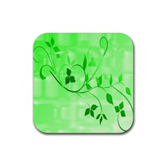 Floral Green Drink Coasters 4 Pack (square)