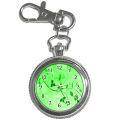 Floral Green Key Chain & Watch