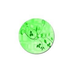 Floral Green Golf Ball Marker