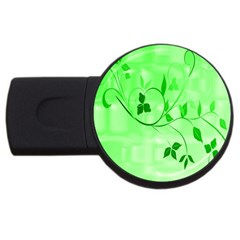 Floral Green 2GB USB Flash Drive (Round)