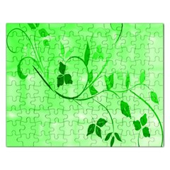 Floral Green Jigsaw Puzzle (rectangle)