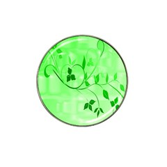 Floral Green Golf Ball Marker (for Hat Clip)