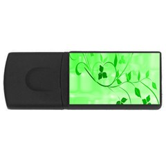 Floral Green 4GB USB Flash Drive (Rectangle)