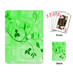 Floral Green Playing Cards Single Design