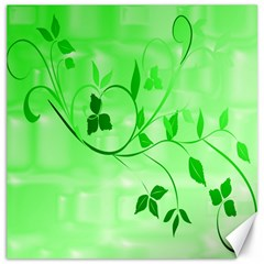 Floral Green Canvas 16  X 16  (unframed)