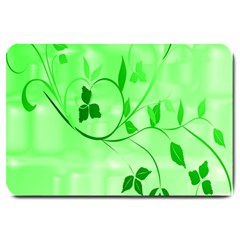 Floral Green Large Door Mat