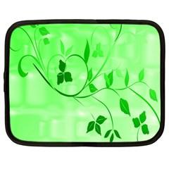 Floral Green Netbook Sleeve (Large)