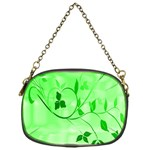 Floral Green Chain Purse (One Side) Front