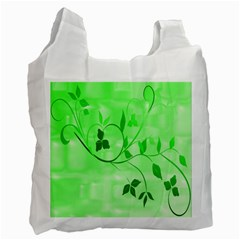 Floral Green Recycle Bag (One Side)