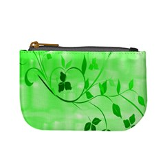 Floral Green Coin Change Purse