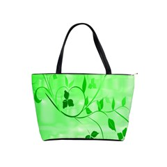 Floral Green Large Shoulder Bag