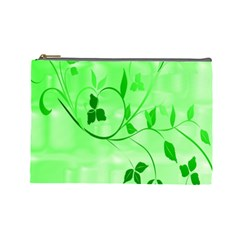 Floral Green Cosmetic Bag (large)
