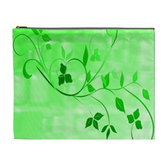Floral Green Cosmetic Bag (XL)