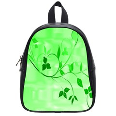 Floral Green School Bag (small)