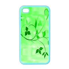 Floral Green Apple Iphone 4 Case (color)