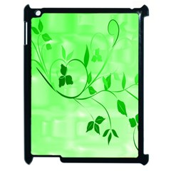 Floral Green Apple Ipad 2 Case (black)