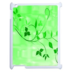 Floral Green Apple Ipad 2 Case (white)