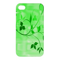 Floral Green Apple Iphone 4/4s Hardshell Case