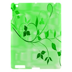 Floral Green Apple Ipad 3/4 Hardshell Case