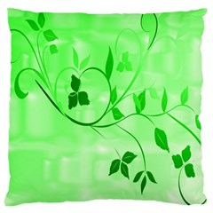 Floral Green Large Cushion Case (Two Sided)