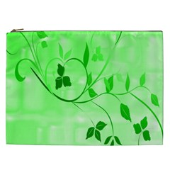 Floral Green Cosmetic Bag (xxl)