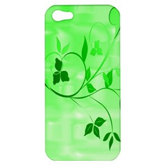 Floral Green Apple iPhone 5 Hardshell Case