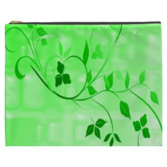 Floral Green Cosmetic Bag (XXXL)