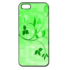 Floral Green Apple Iphone 5 Seamless Case (black)