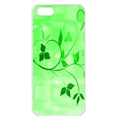 Floral Green Apple iPhone 5 Seamless Case (White)