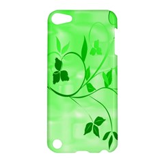 Floral Green Apple Ipod Touch 5 Hardshell Case
