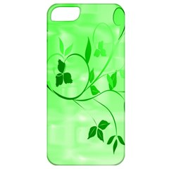 Floral Green Apple Iphone 5 Classic Hardshell Case