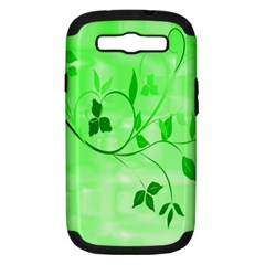 Floral Green Samsung Galaxy S Iii Hardshell Case (pc+silicone)