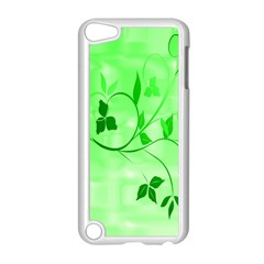 Floral Green Apple iPod Touch 5 Case (White)