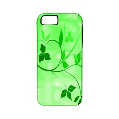 Floral Green Apple iPhone 5 Classic Hardshell Case (PC+Silicone)